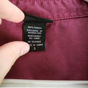 Torrid Tops - Torrid Maroon Button Down Shirt